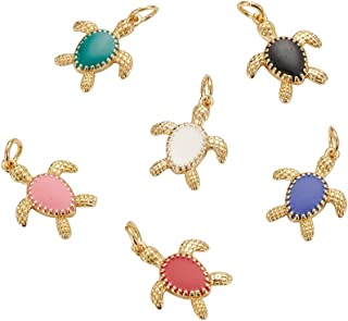 20pcs Sea Creature Turtle Charms Loose Beads Pendant Craft for Necklace