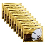Adofect 30 Pairs White Eye Mask Power Crystal Gel Collagen Masks, Great For Anti Aging, Dark Circles & Puffiness