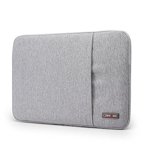 Lacdo Waterproof Fabric Laptop Sleeve Case Bag Notebook Bag Case For Apple MacBook Pro 13.3 Inch With Retina Display Macbook Air 13 Ultrabook, Gray- Durable Waterproof-E-book Gift For You@