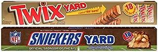 Twix Yard Bars and Snickers Yard Bars Set of 18 Twix Bars and 18 Snickers Bars