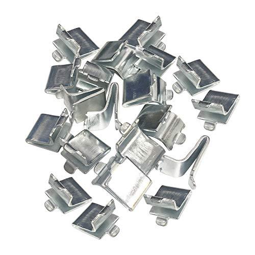 Adjustable Steel Pilaster Shelf Support Clip -20 Pieces