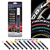 315/35R17 Summer Tires - Tire Ink | Paint Pen for Car Tires | Permanent and Waterproof | Carwash Safe (White, 1 Pen)