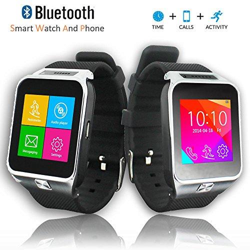 inDigi SWAP2 GSM Wireless Bluetooth Smart Watch Phone Camera Unlocked AT&T/T-Mobile (Silver)