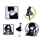 5-Pack Fashion Trend Girl Sailor Moon Iron On Sew On Embroidered Patch for Jackets Backpacks Jeans and Clothes Badge Applique Emblem Sign Sport Decal