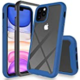 UYMO iPhone 11 Pro Hlle, Transparent 360 Grad Schutz Stofest Case Robust Handyhlle 2-in-1-Design...