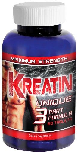 Kreatin(TM) - Pure Creatine Monohydrate Supplement, 5000mg Pills, Optimum Tri-Phase Formula - Muscle Performance and Development Supplement