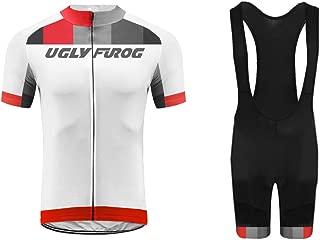 Uglyfrog Verano Ropa Conjunto Traje Equipacion Ciclismo Hombre Verano con 3D Acolchado De Gel, Maillot Ciclismo + Pantalon/Culote Bicicleta para MTB Ciclista Bici/Conjuntos de Manga Larga FAXMIX-201907