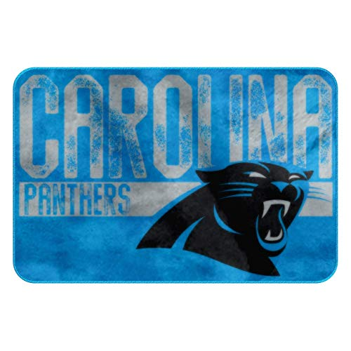 Carolina Panthers Light Weight Fleece NFL Blanket (Grid Iron) (50x60 )