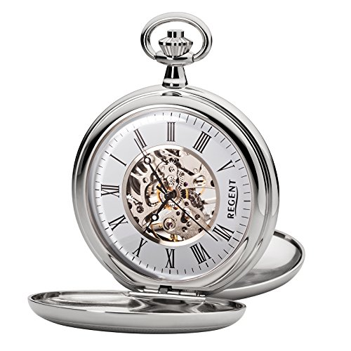 Regent - Taschenuhr - Mechanisch - Silber - Skelett - P93