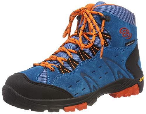 Bruetting Unisex-Kinder Mount Bona High Kids Trekking-& Wanderstiefel, Blau (Petrol/Schwarz/Orange), 35 EU