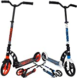 iScoot© H20 Black Light Weight Adult City Push Kick Scooter with Large 230MM