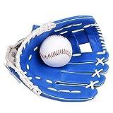 Voker Guante de béisbol al Aire Libre del béisbol Guante de béisbol Adulto/Adolescente/Niño Guantes de béisbol Salvajes Guantes del Softball Azul (L)
