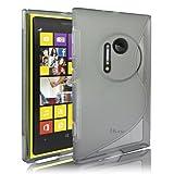 JKase Slim-Fit Streamline Ultra Durable TPU Case for Nokia - Retail Packaging (Nokia Lumia 1020, Grey)