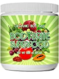 Superfood Powder Total BodyBrite 100% Raw, Organic, Best Green Superfood Nutritional Supplement. 21 Delicious Fruits, Greens & Vegetables. Amazing Antioxidants. No Soy.