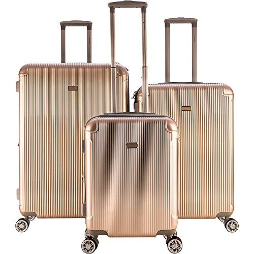 Gabbiano Genova 3 Piece Expandable Hardside Spinner Luggage Set (Champagne)