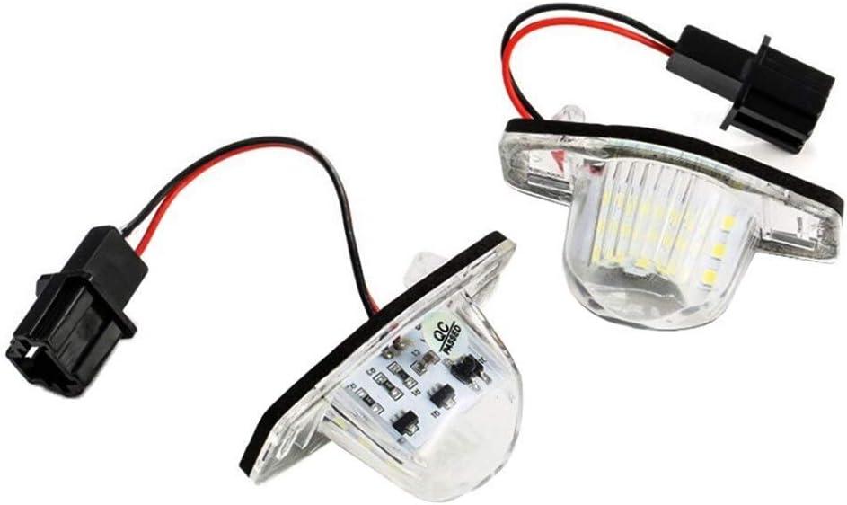 SUJIE Lampe de Plaque dimmatriculation Plaque dimmeuble Lampes Blanches 5050 /à la Puce LED Compatible avec Honda Jazz//FIT Odyssey CROSSTOUR CR-V 2010 2011 2012 2013 2014 /Étanche