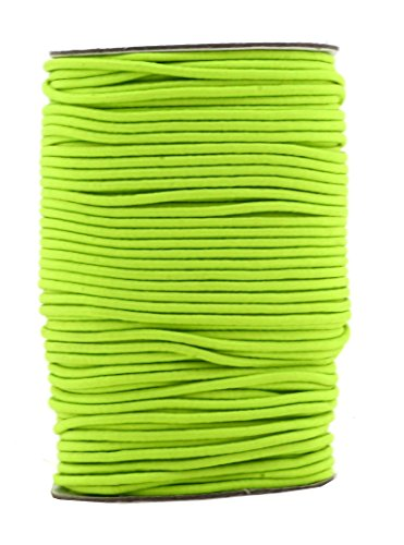 Mandala Crafts Elastic Cord Stretchy String for Bracelets, Necklaces, Jewelry Making, Beading, Masks (Lime Green, 2mm 76 Yards)