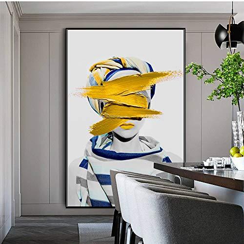 yhyxll Impresiones abstractas de la Lona del Arte de la Pared de la Moda Niñas con la Pintura Imágenes Decorativas caseras Pinturas de la Lona del Arte Pop para la Pared de la Sala de Estar 2 50x70cm