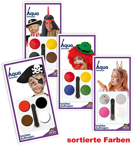 FASCHING 31612 Aqua Schmink-Set Clown Schminke NEU/OVP