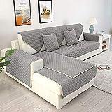 Funda protectora para sofá esquinero, antideslizante y extraíble - Cubre sofá por secciones, gris, 90x120cm 1pcs