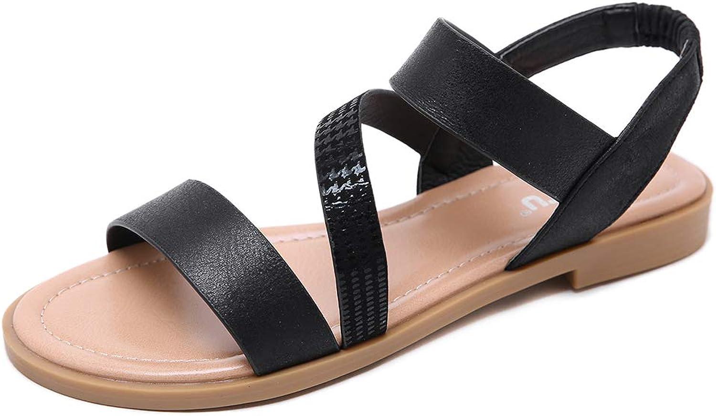 Mubeuo Women's Leather Flat Skidproof Fashion Sandles Sandals
