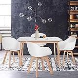 Yata Home - Mesa de Comedor Rectangular de 4 a 6 Personas, Color...