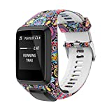 PATROHOO Bands for Tomtom Runner 2/3 Strap,Compatible with Spark 3/Golfer2/Adventurer,Rubber Replacement Band for Screen Protector-GPS Smart Watch Accessories.(Jellyfish)