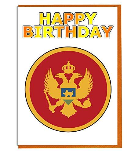 Montenegro Flagge – Geburtstagskarte – Fre& – Familie – Kollege – Mate – Boss – Loved One