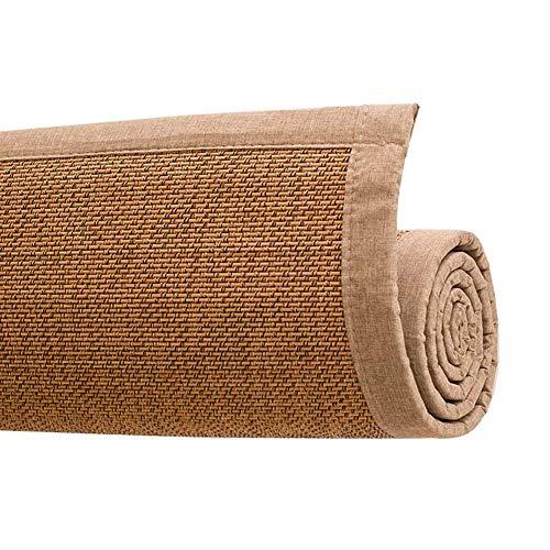 FZYE Alfombra de bambú, Antideslizante, Transpirable, para el hogar, Sala de té, cojín, Oficina, colchonetas para Dormir de Verano, 13 mm de Grosor, 3 Colores, Personalizable (Color: Ma