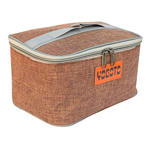 【YOGOTO】 スパイスボックス 調味料ケース ランチボックス キャンプ アウトドア BBQ (コーヒー色)