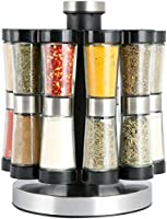 Neoflam gsr2520 spice set 20 with rotating stand, black