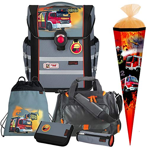 Firefighters Feuerwehr - McNeill Ergo MAC Schulranzen-Set 6 TLG. mit Sporttasche und SCHULTÜTE