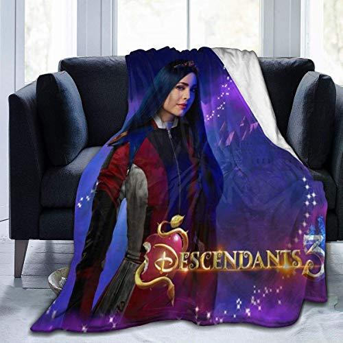 YYdg Kuscheldecke Decke Descendants 3 Evie 80'x60' SFlannel Fleece Soft Throw Blanket for Settees/Sofa/Chairs/Couch - Lightweight, Warm and Cozy
