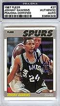 Johnny Dawkins Signed 1989 Fleer Rookie Card #27 San Antonio Spurs - PSA/DNA Authentication - NBA Basketball Trading Cards