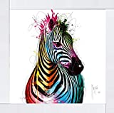Lámina enmarcada de Zebra by Patrice Murciano (marco de espejo, 85 x 85 cm)