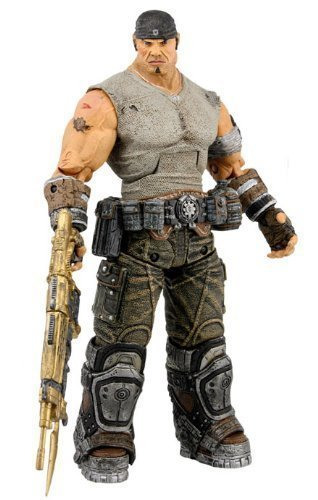 Gears of War 3 Series 3 Journey's End Marcus with Gold Retro Lancer 7 Inch Action Figure by NECA TOY by NECA