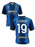Camiseta del Inter Joaquìn Correa 19 Home 2021 2022, réplica oficial (Talla 2, 4, 6, 8, 10, 12 años, niño, niño) (Talla S, M, L, XL, XXL, Adulto)...