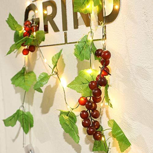 NACEO 6,6 Ft 3 Trauben Lichterketten 20 LED - Batteriebetrieben Lichterketten Für Weihnachten/Thanksgiving/Indoor/Courtyard Dekoration