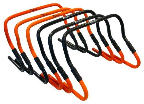 Precision Training TR564 - Obstáculos de entrenamiento de paso ajustables de 6' a 12', color naranja/negro, talla única, conjunto de 6 piezas