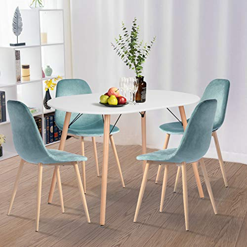 Yata - Tavolo da pranzo ovale Eiffel scandinavo in legno per ufficio, soggiorno, sala da pranzo, cucina, tavolo rotondo