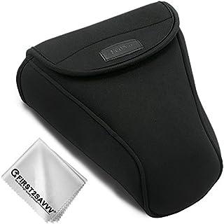 First2savvv Negro Funda Cámara Reflex Neopreno Protectora para Nikon D7500 D7200 D7100 D7000 D750 D500 D90 D80 D70 Adecuado para 18-105mm18-135mm18-140mm18-200mm QSL-SLRL-N-A01
