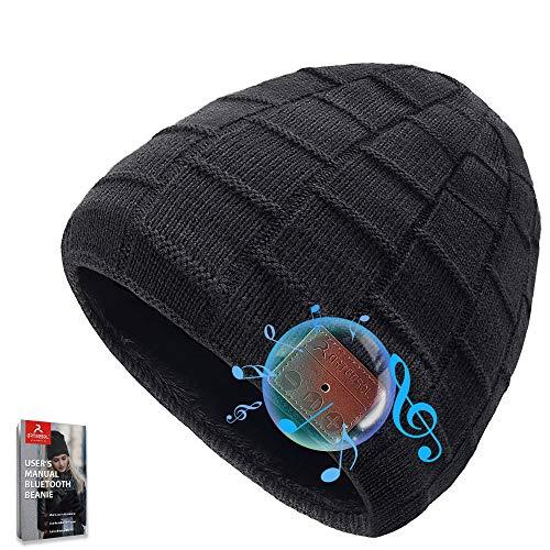arteesol Bluetooth Mütze Hat mit Kopfhörern,Geschenke für Valentinstag Herren, Warm Mütze Wireless Mütze Bluetooth 5.0 Superior Earphone, für Outdoor-Sport Laufen, Skifahren, Radfahren
