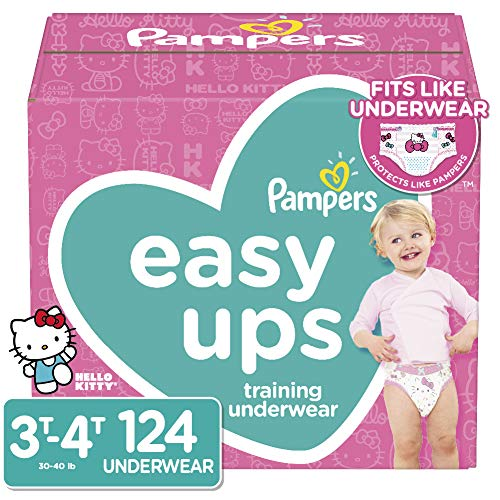 Pampers Easy Ups Training Underwear Girls Size 5 3T-4T 124 Count