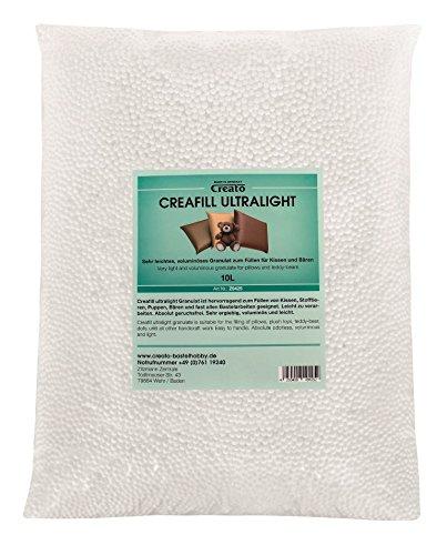 Creato Creafill Ultralight 10 L Granulat Füllmaterial, Styropor, Weiß, 45 x 32 x 10 cm