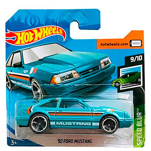 Hot-Wheels '92 Ford Mustang Speed Blur Series 2019 1/64 short card
