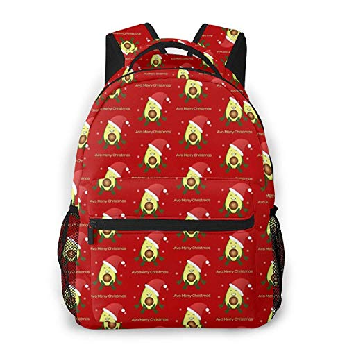 AVO Merry Christmas Causal Daypack Rucksack Vintage College Schultaschen Mehrzweck-Laptop-Rucksack für Schule/Business/Arbeit/Herren/Damen