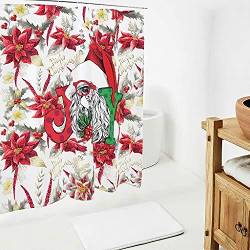 BONC Christmas Animal Happy patroon douchegordijnen anti-schimmel waterdicht gordijn badkuip gordijn voor badkuip