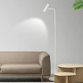Lampadaire LED moderne à intensité variable or/noir/blanc Foyer minimaliste chambre bureau lampadaire vertical décor à la ...