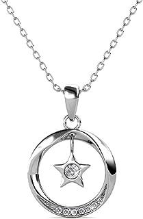 Elli Femme Bracelet de Cheville /Étoiles Solitaire Cristaux de Swarovski 925 Argent 22cm
