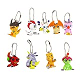 9pcs/lot Anime Adventure Animal Figures Piyomon Palmon Tentomon Greymon Agumon Gabumon Patamon Tailmon Gomamon Model Toy Doll-keychain